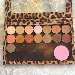 Makeup Geek Eyeshadows and blush in Z Palette.